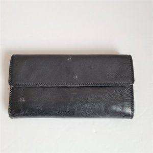 Derek Alexander black leather wallet.